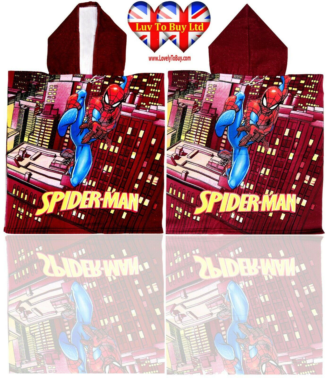 Official Spiderman Poncho Towel,Bath Hooded Towel,Swimming Pool Towel,BeachTowel