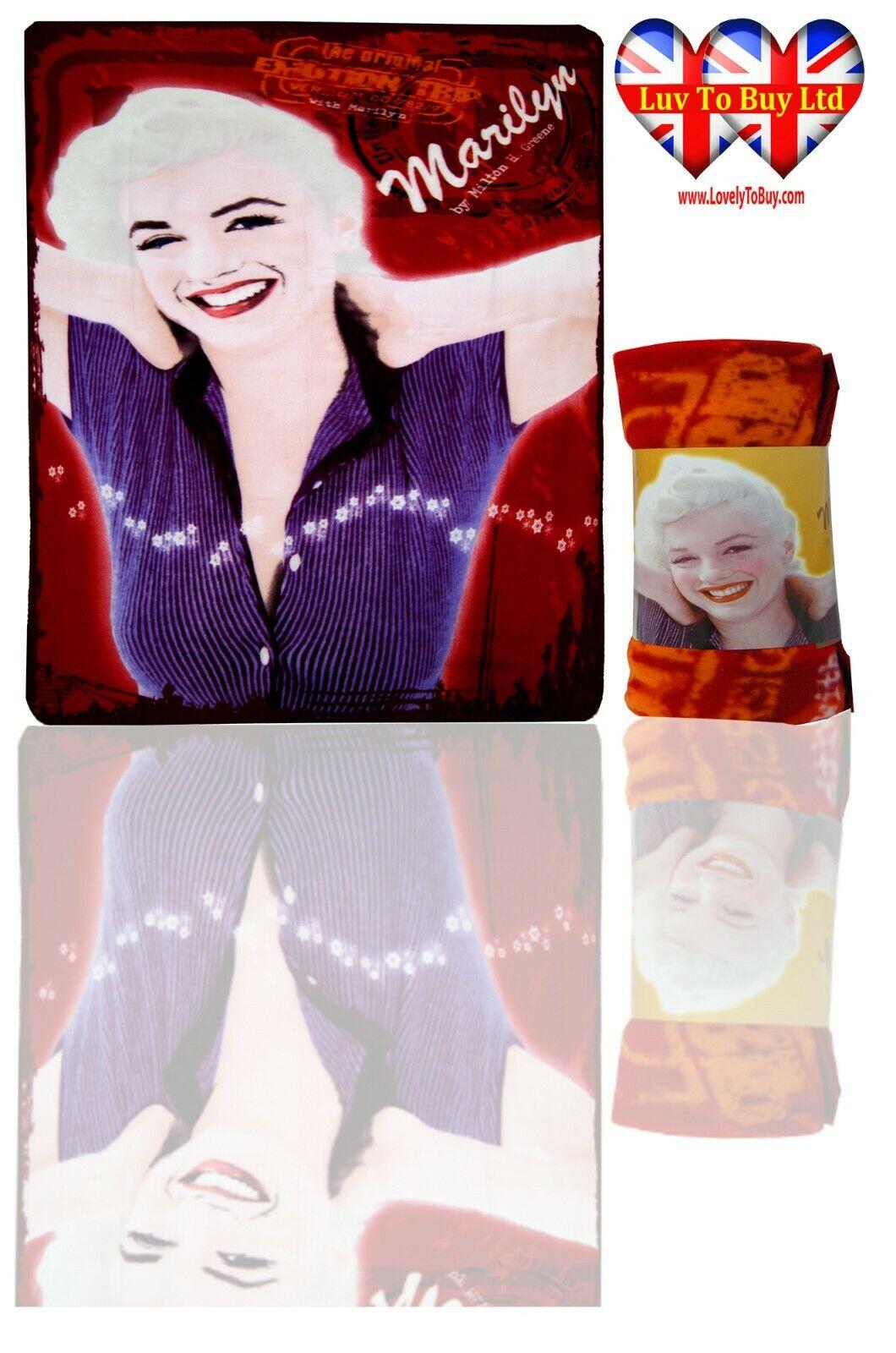 • Marilyn Monroe Blanket,Soft Touch,Fleece Blanket,Official Licenced