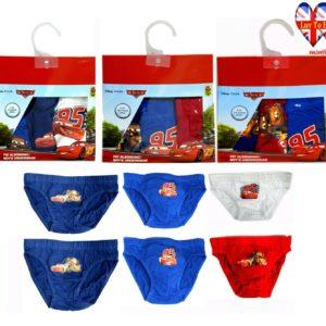 Pack Of 3 Disney Cars kids Pants,Boys Briefs Underwear Age 2-8 Years