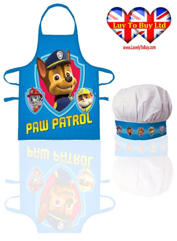 Children Apron Set,Paw Patrol Chef Cooking Baking Apron Set